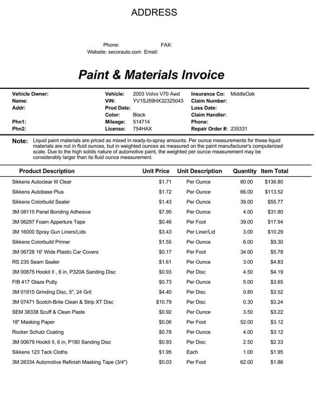 PDF invoice templates free download