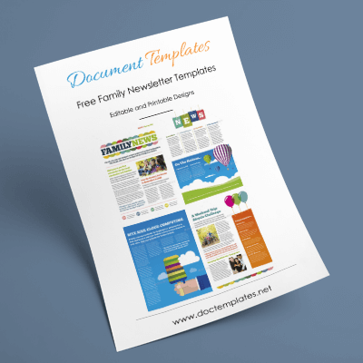 Family Newsletter Templates – Make It Easy To Start Family Newsletter