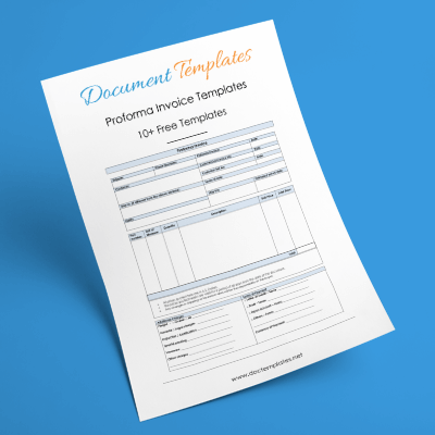Proforma Invoice Templates and Samples for Word Excel and PDF