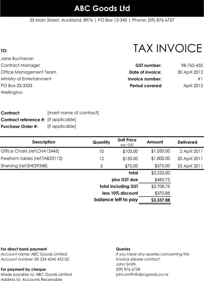 32 Free Invoice Templates Editable With Excel And Word