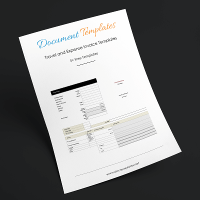 Travel and Expense Invoice Templates for Travel Agencies