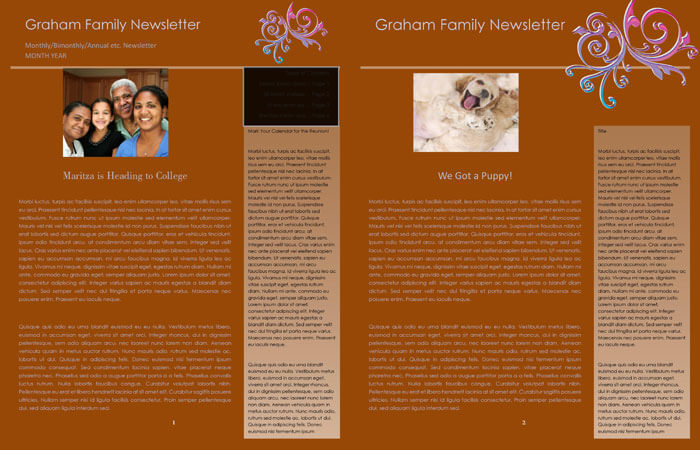 annual family newsletter template