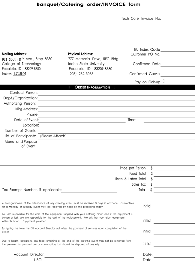 catering invoice templates 10 different formats in pdf and excel