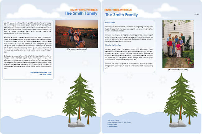 family newsletter samples