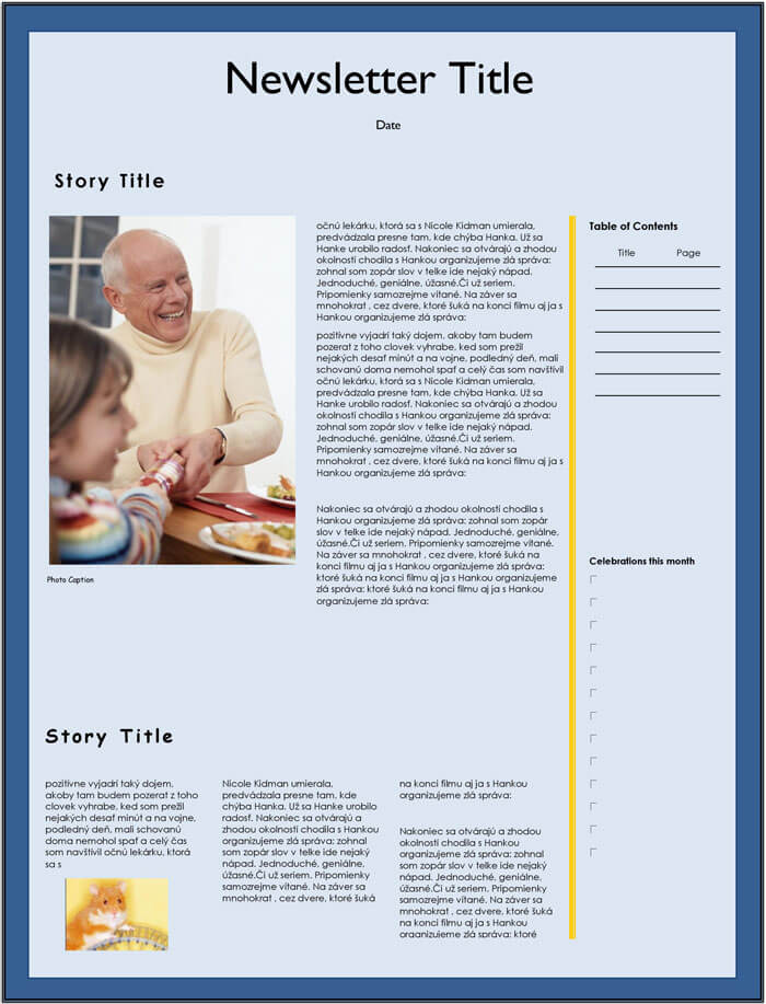 holiday family newsletter templates