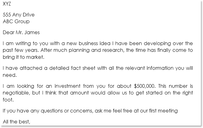 Business Proposal Letter Sample 05