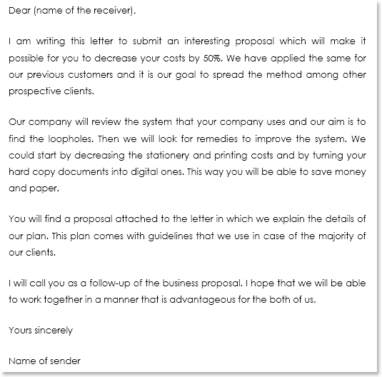 Business Proposal Letter Sample 06