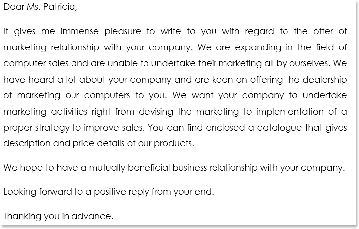 Business Proposal Letter Sample 14