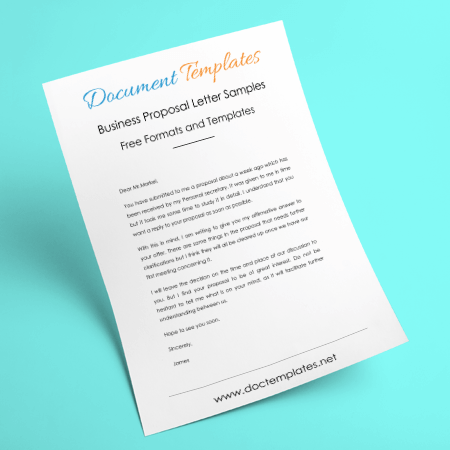 Business Proposal Letter Samples With Cover Letter Formats