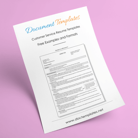 Customer Service Resume Templates and Formats