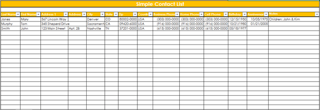 9 customer contact list templates in word and excel