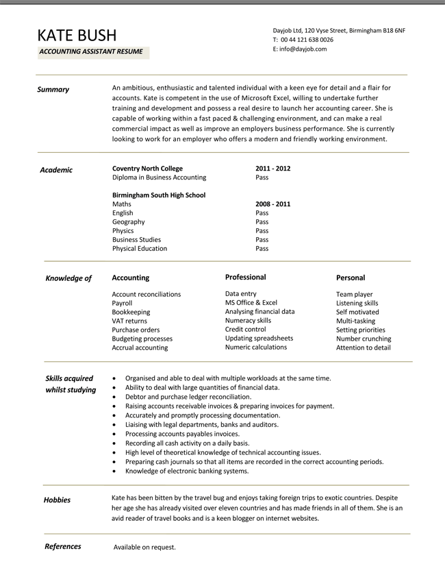Financial Accountant Resume Templates PDF