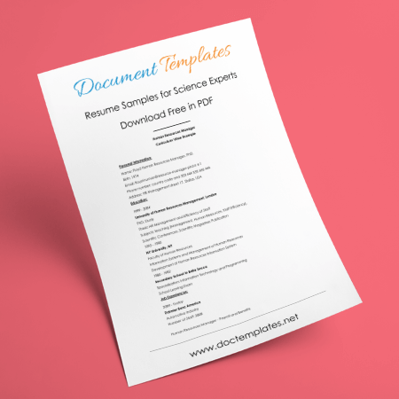 Science Expert Resume Templates