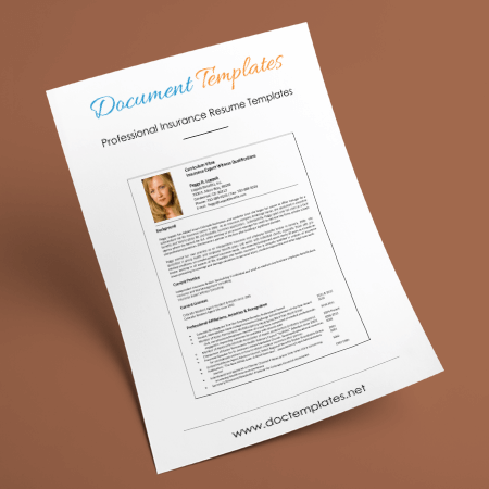 Insurance Resume Templates and Formats