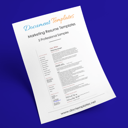 Resume Templates for Marketing Jobs