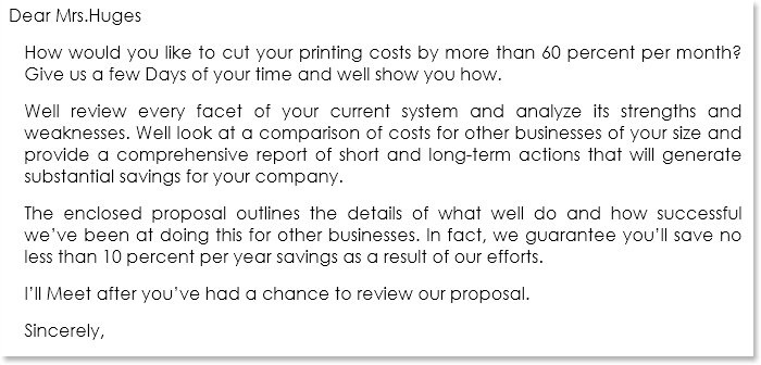 Business Proposal Letter Sample 07