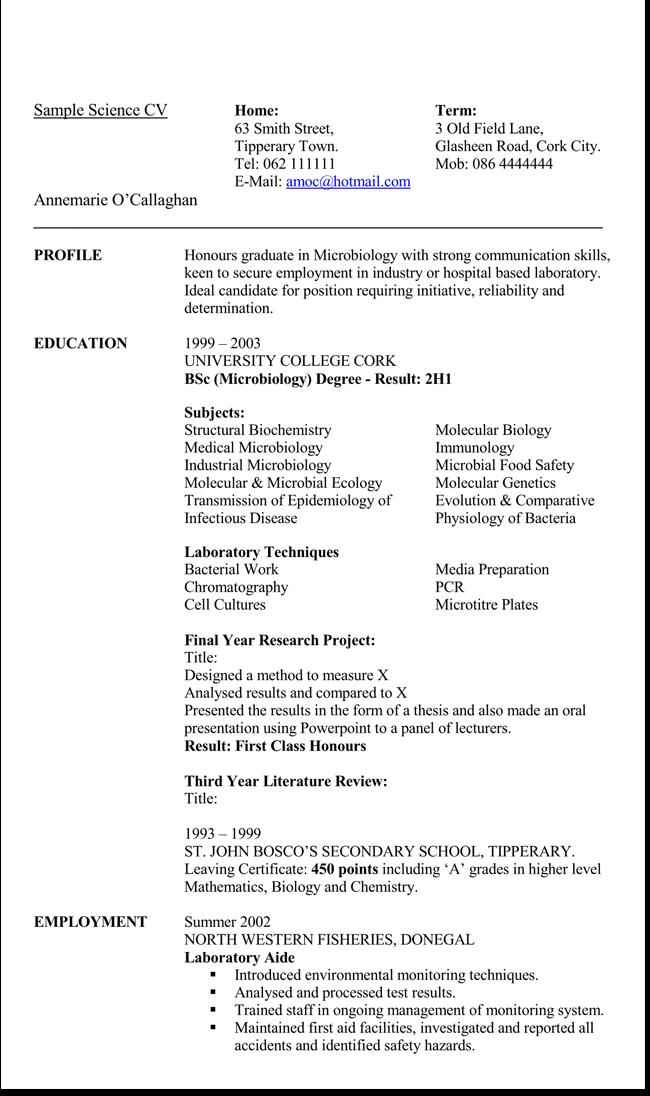 free printable science expert resume templates