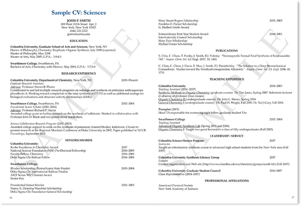 Science Expert Resume Templates and Samples