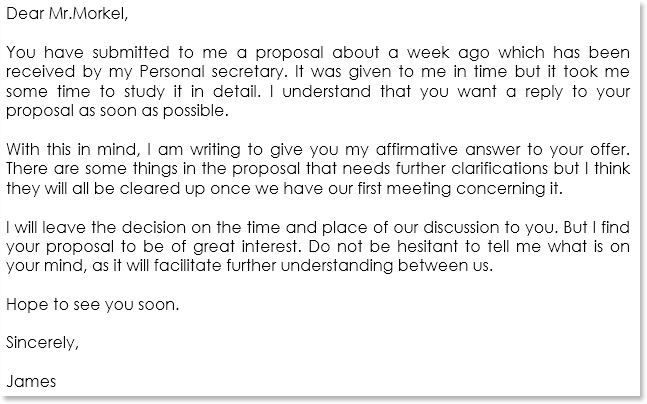 Business Proposal Letter Sample 12