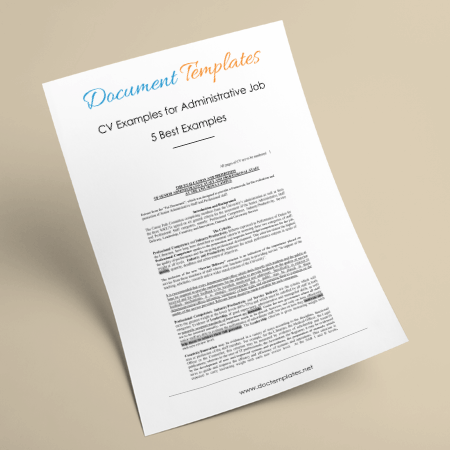 Best CV Examples for Administrative Job