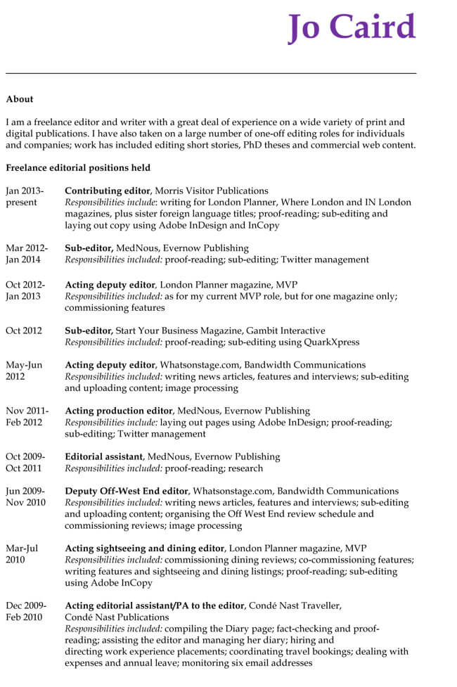 CV-Format-for-Editor-Job Table Format For Resume on for designers, computer science, for fresh graduates, sample chronological, sample canadian, for teacher, cover letter, 12th pass, sample fresher,