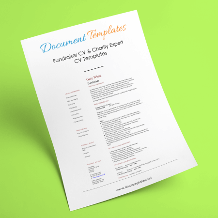 Fundraiser CV Examples and Templates to Create Charity Expert CV