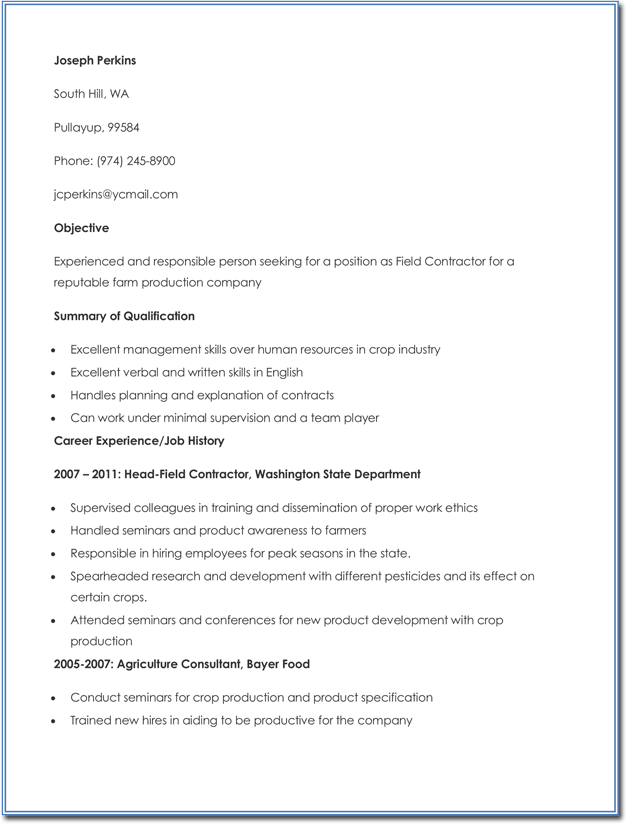 20  agricultural cv and resume templates
