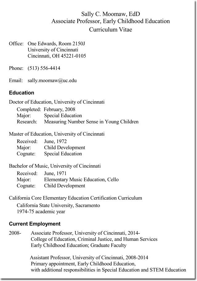 CV Templates for Educational Jobs