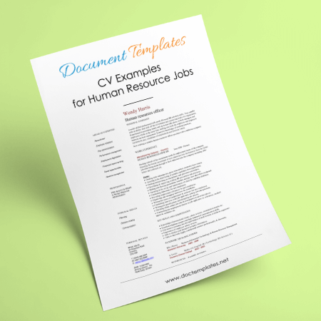 CV Examples for Human Resource Jobs