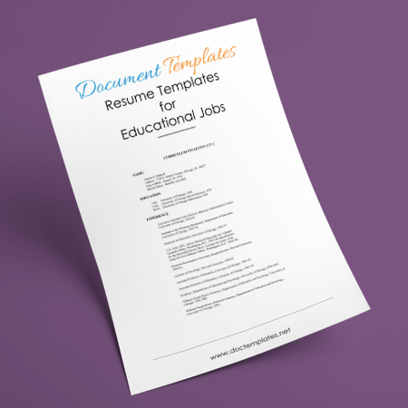CV Templates for Educational Jobs With Quick Guide to Write One