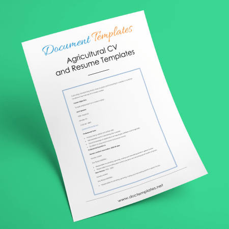 Free Agricultural CV and Resume Templates