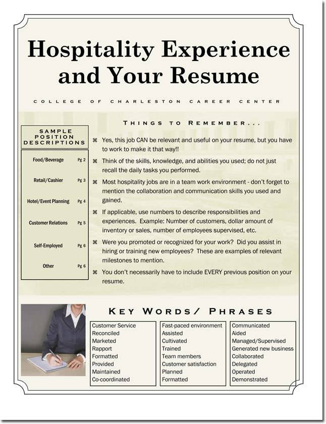 Hospitality Experience CV Template