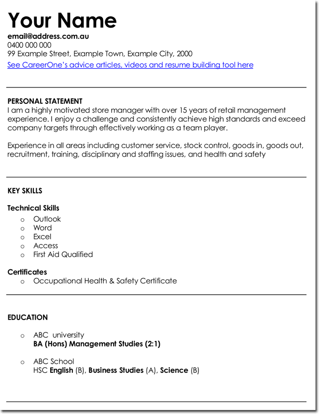 3 best retail manager resume and cv samples