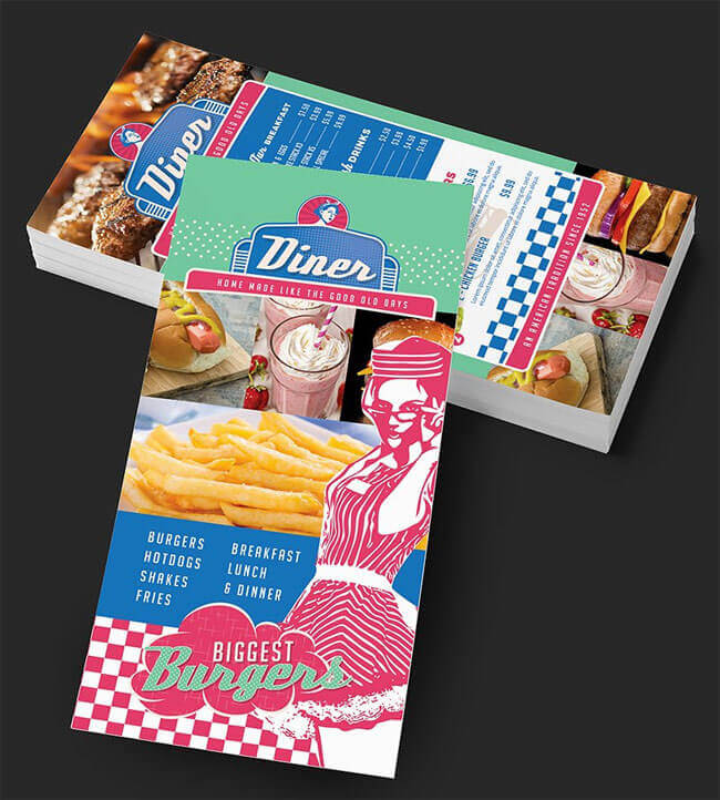 American Fast Food Menu Design