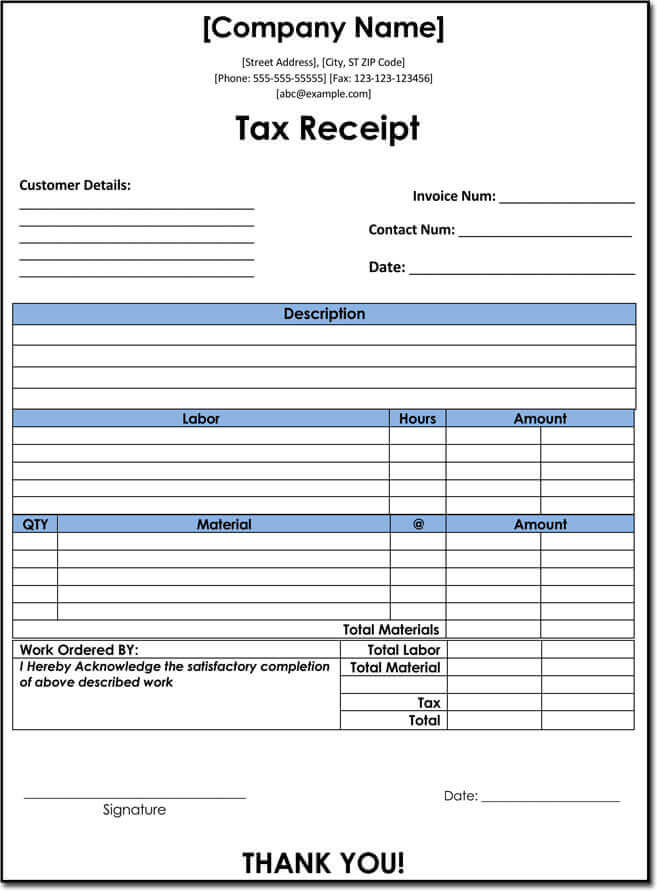 Company tax receipt template free download in wordCompany tax receipt template free download in word
