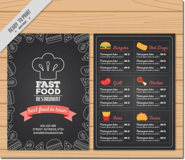 Fast Food Restaurant Menu Template Free