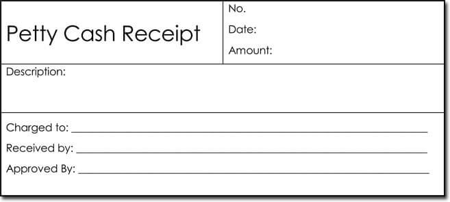 Free Petty Cash Receipt Template For Word  Cash Recepit