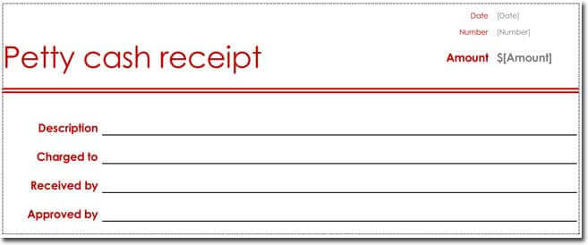 Petty Cash Receipt Template 01