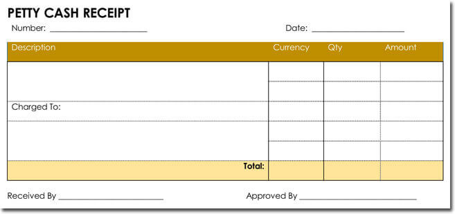 Petty Cash Receipt Template 02