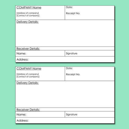 8+ Delivery Receipt Templates for Word, Excel and PDF