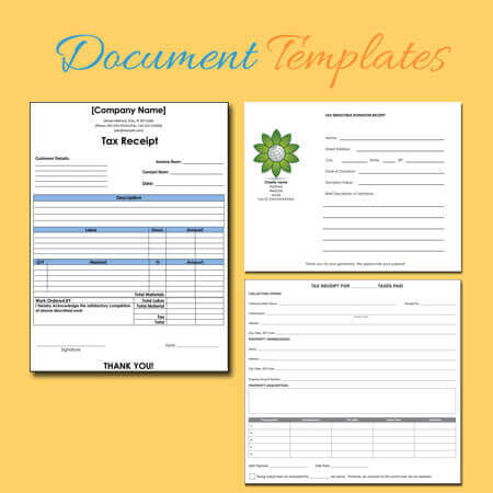 free tax receipt templates