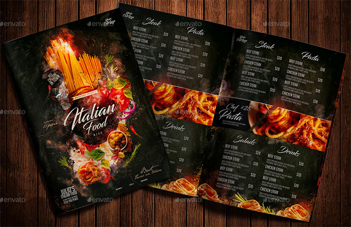 Best Italian Food Menu Design