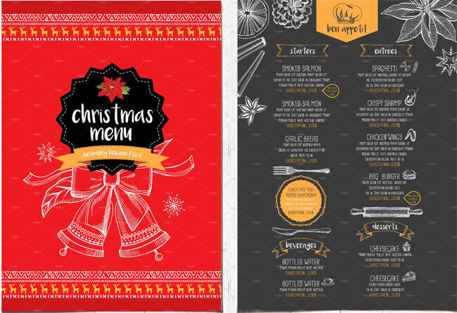 13 Best Christmas Menu Templates For Any Restaurant
