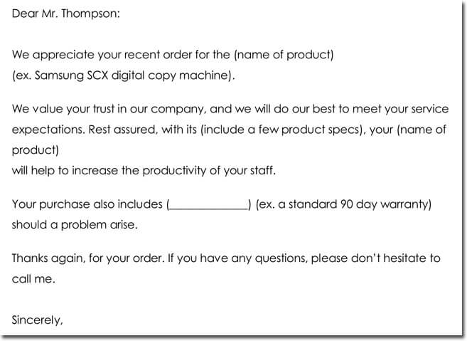 10  customer thank you letter templates