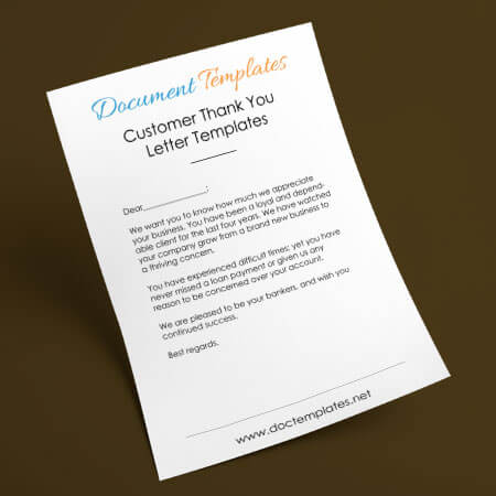12+ Customer Thank You Letter Templates