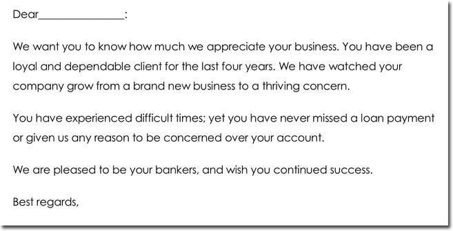 Customer Thank You Note