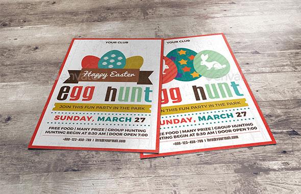 Easter Egg Hunt Party Flyer