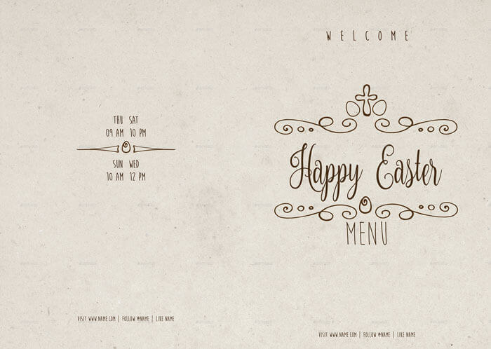 easter menu templates and party flyers in pdf and eps format