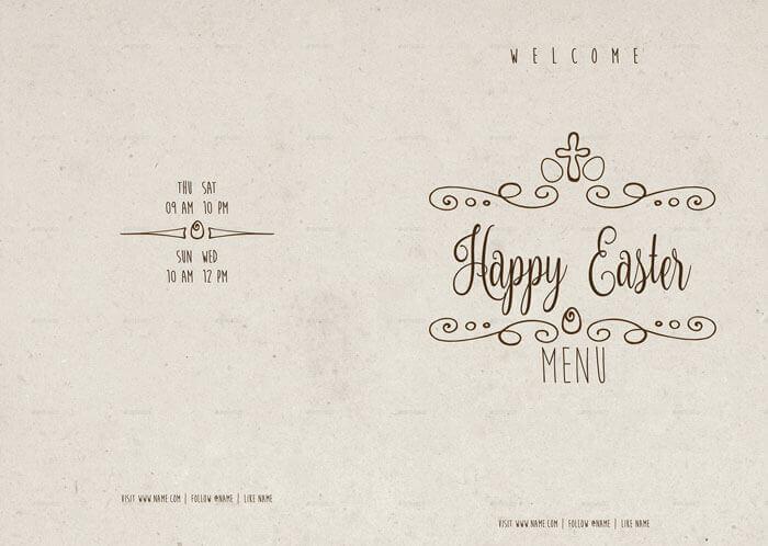 Easter Menu Templates PDF EPS