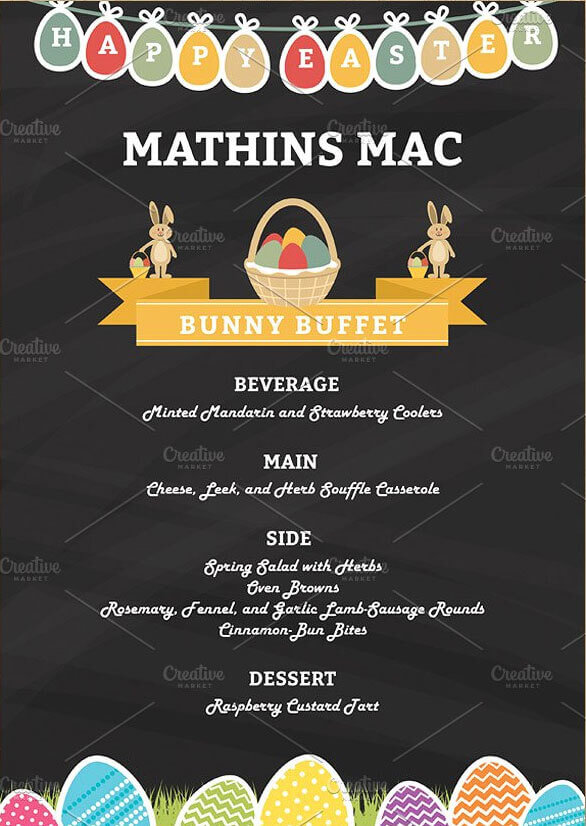 Easter Party Menu Templates Download